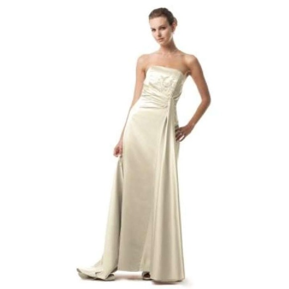 59997e4c4c David s Bridal Truffle (chocolate brown) Gown